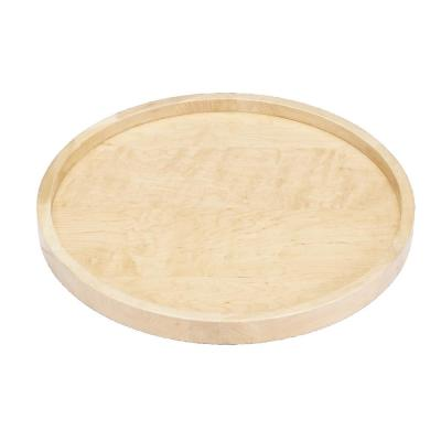 2.38 in. H x 32 in. W x 32 in. D Wood Full Circle Lazy Susan Single Shelf with Swivel Bearing