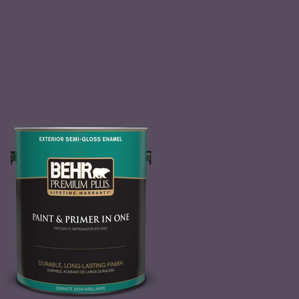 1-gal. #660F-7 Napa Grape Semi-Gloss Enamel Exterior Paint