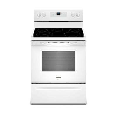 5.3 cu. ft. Electric Range with Steam Clean and 5 Elements in White