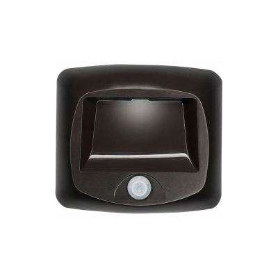 Outdoor Wireless Motion Sensing Led Step Stair Light Brown 2 Pack