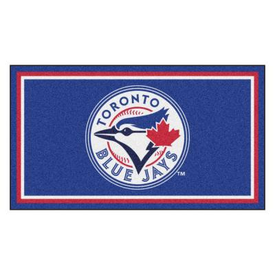 MLB - Toronto Blue Jays 3 ft. x 5 ft. Ultra Plush Area Rug
