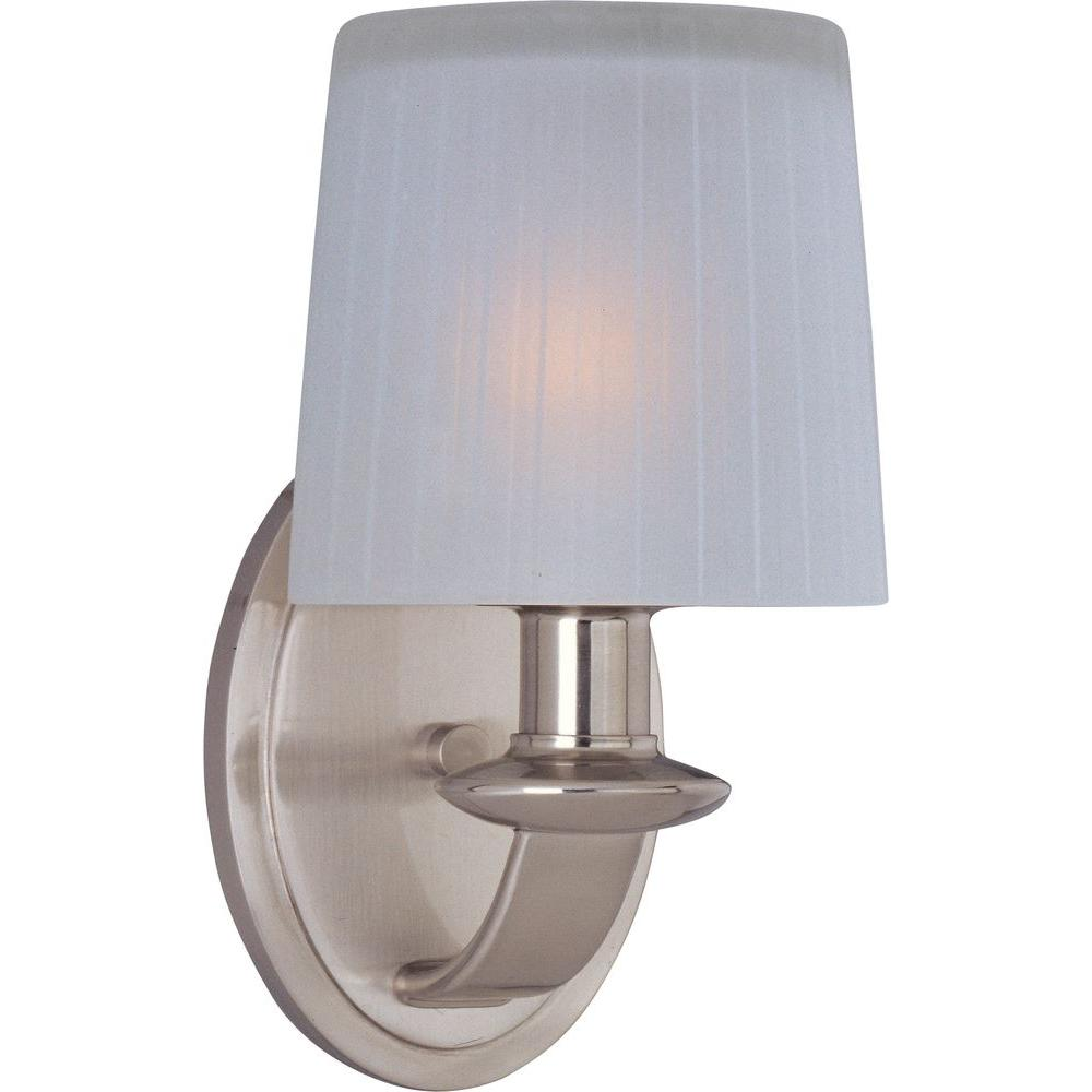 Finesse 1-Light Satin Nickel Sconce