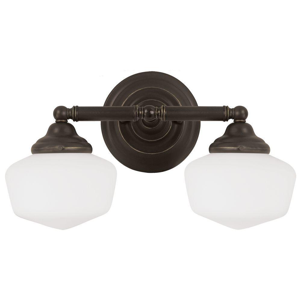 Academy 2-Light Heirloom Bronze Wall/Bath Light