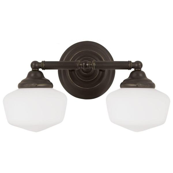 Academy 2-Light Heirloom Bronze Wall/Bath Light