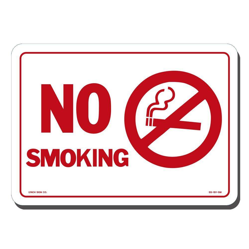 Lynch Sign 7 In X 5 In No Smoking With Symbol Sign Printed On More