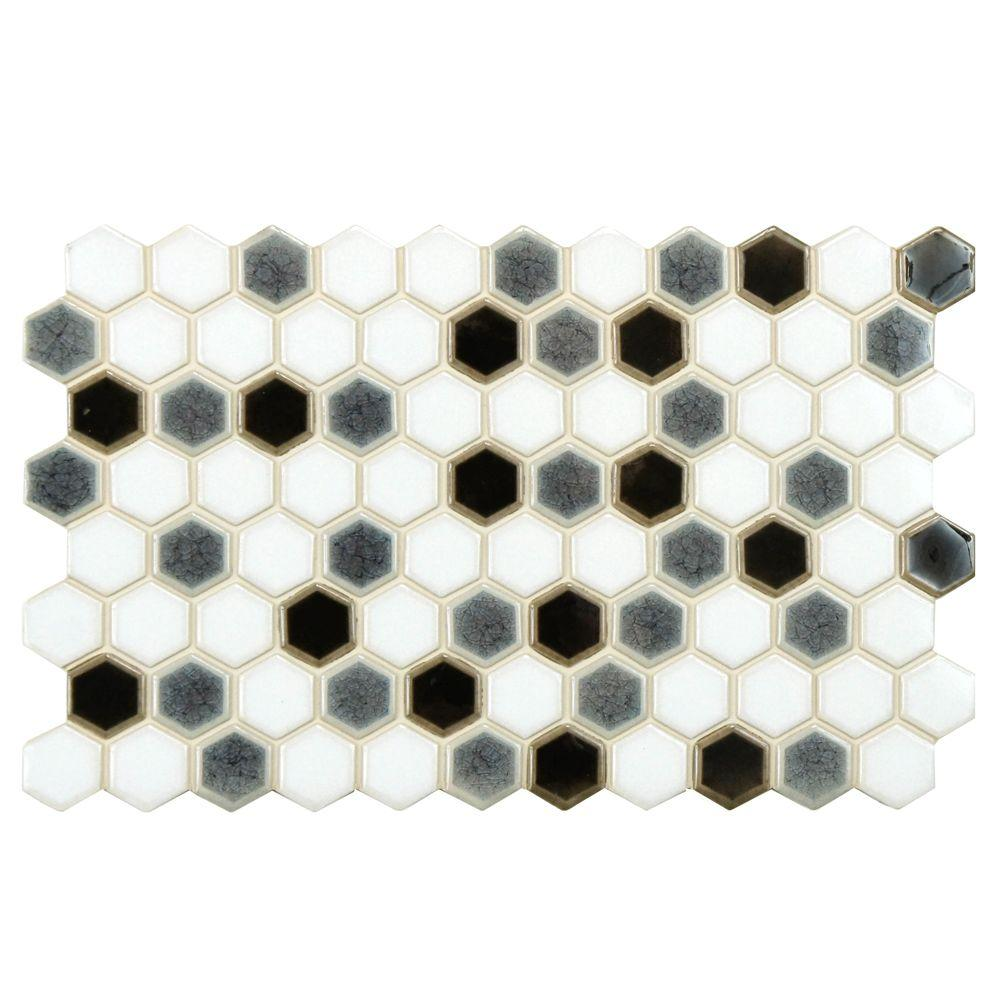 Merola Tile Casella Checkerboard 5-1/2 in. x 9 in. Porcelain Floor and Wall Tile
