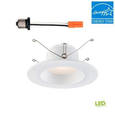 5 in. / 6 in. White Integrated LED Recessed Baffle Trim 90 CRI, 3500K