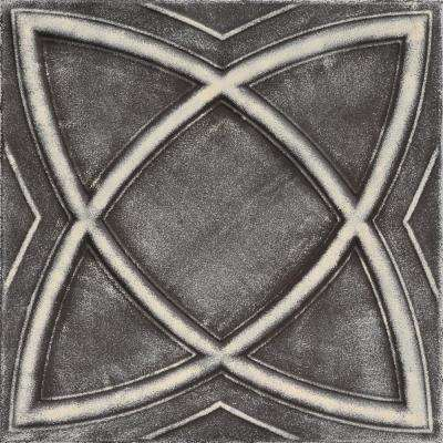 Elliptic Illusion 1.6 ft. x 1.6 ft. Foam Glue-up Ceiling Tile in Brown Beige