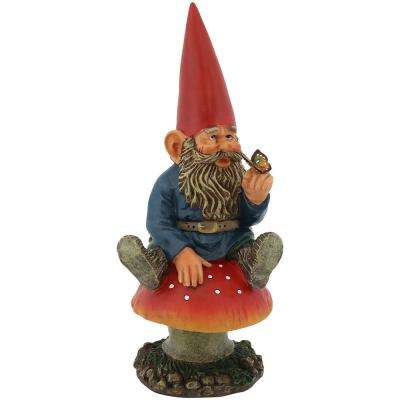 14 in. Adam with Butterfly Gnome Garden Statue