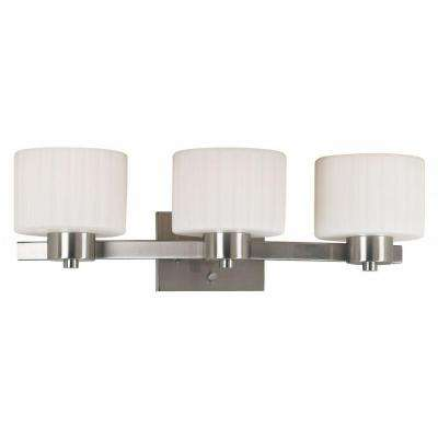 Legacy 3-Light Brushed Steel Vanity Light