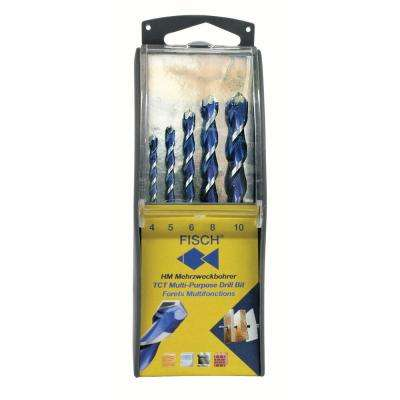 Multi-purpose 5-piece Drill Bit Set with Forstner/Wave Cutter Type Bits