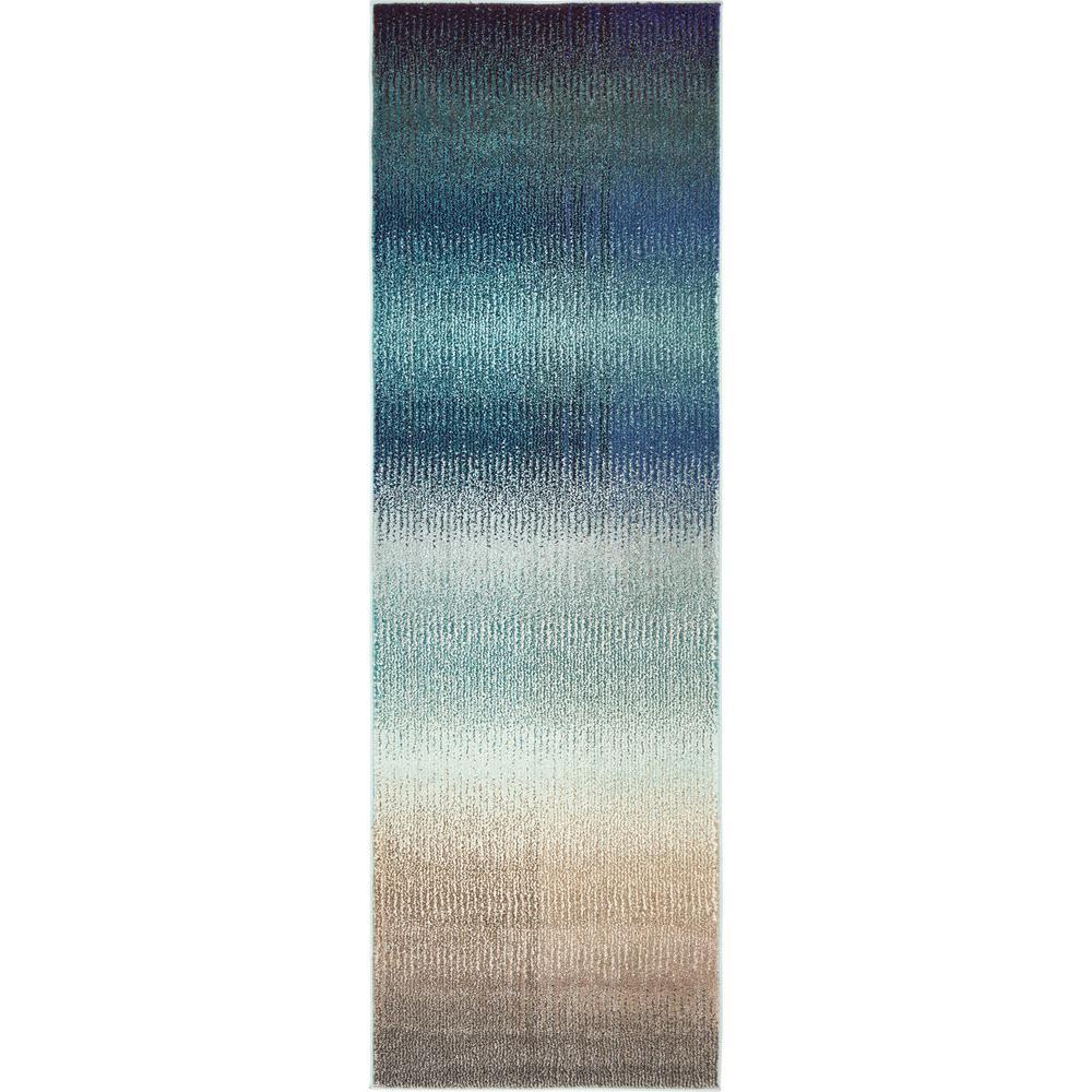 Estrella Azura Blue 2' 2 x 6' 7 Runner Rug