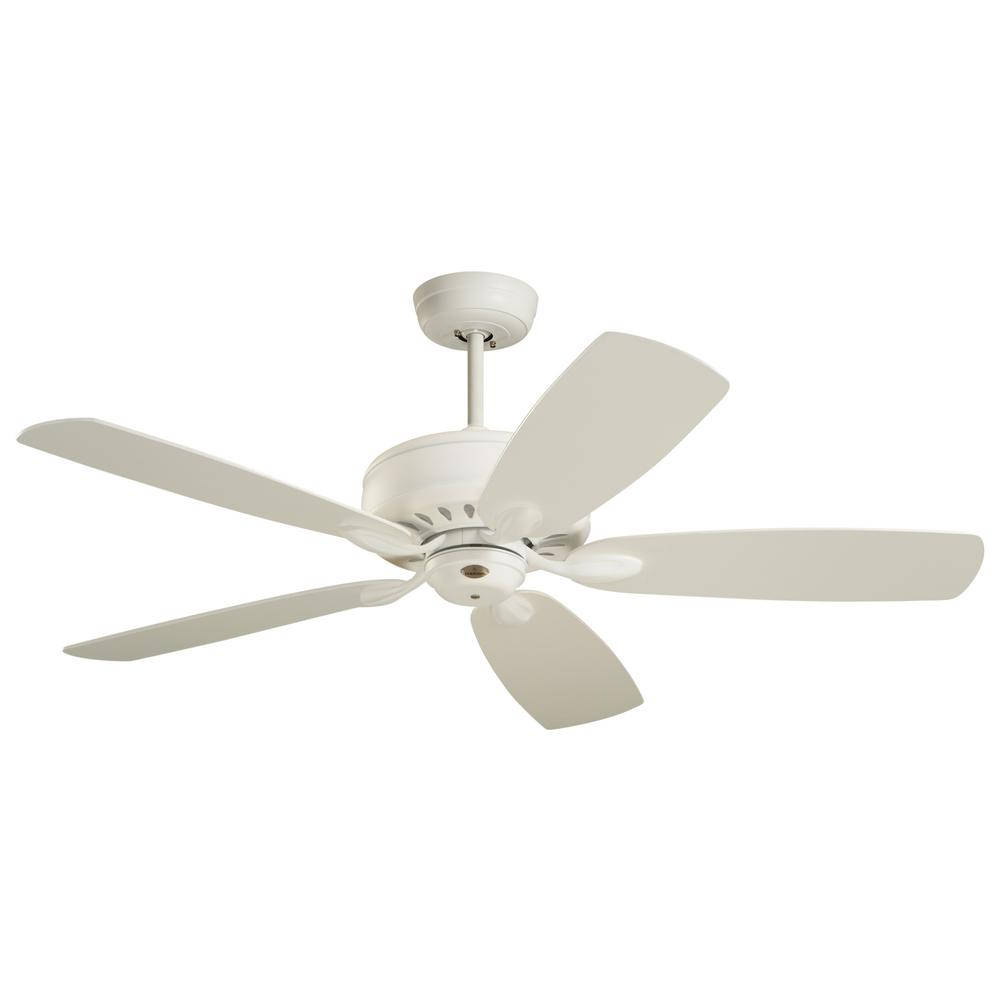 Prima 52 in. Satin White Ceiling Fan
