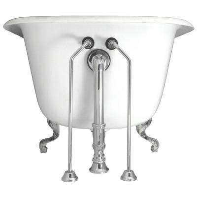 1/2 in. x 24 in. Brass Double Offset Bath Supplies in Chrome