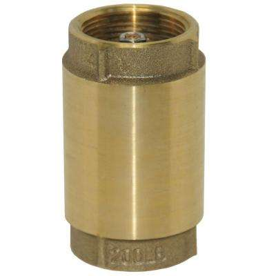3/4 in. Brass Check Valve