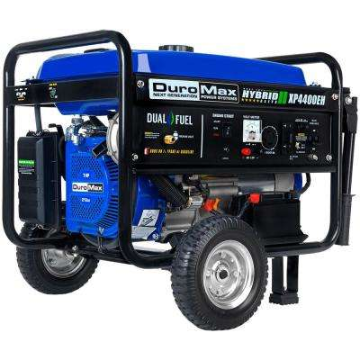 3500-Watt Electric Start Dual Fuel Powered Portable Generator with Wheel Kit