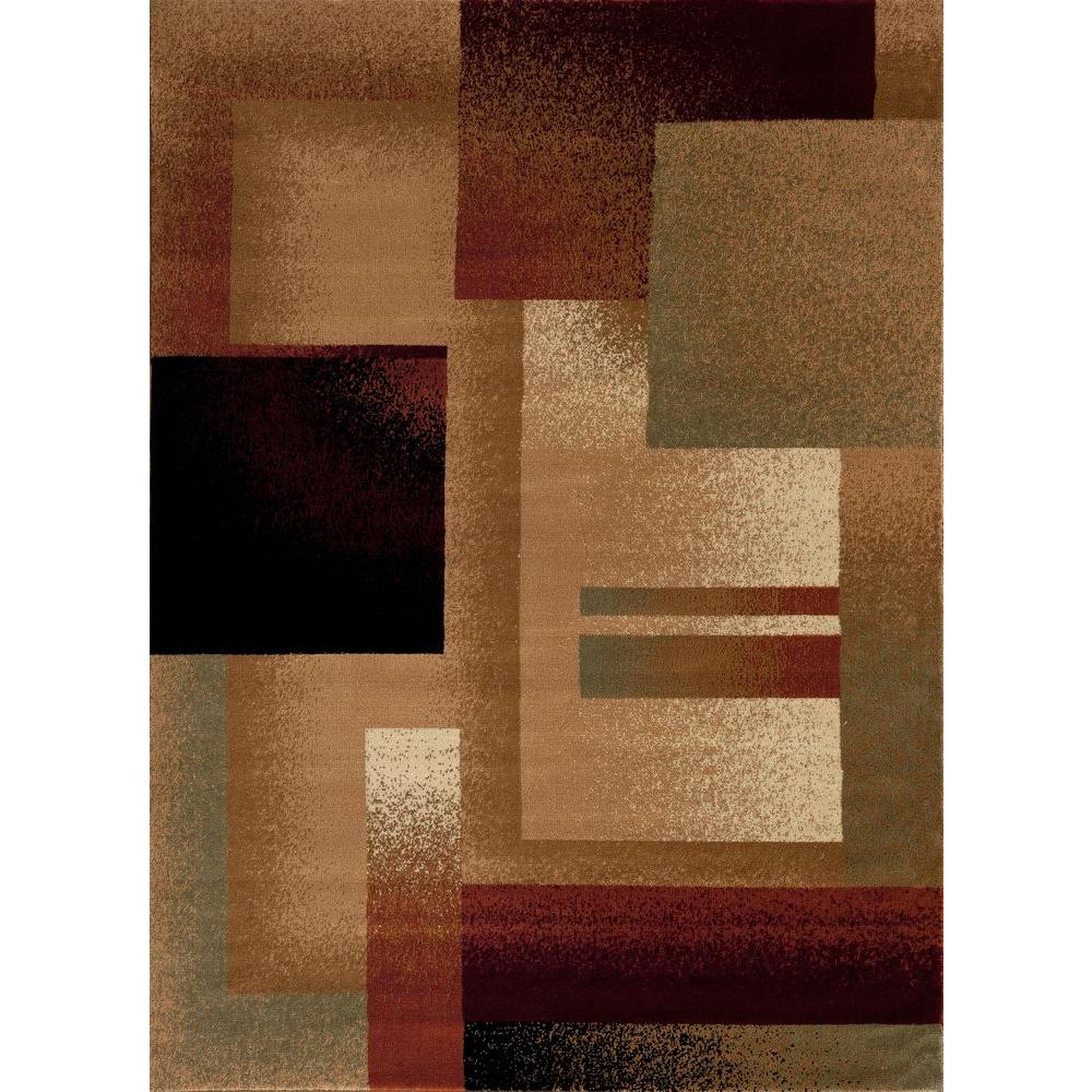 World Rug Gallery Nova Burgundy 7 ft. 10 in. x 10 ft. 2 in. Area Rug