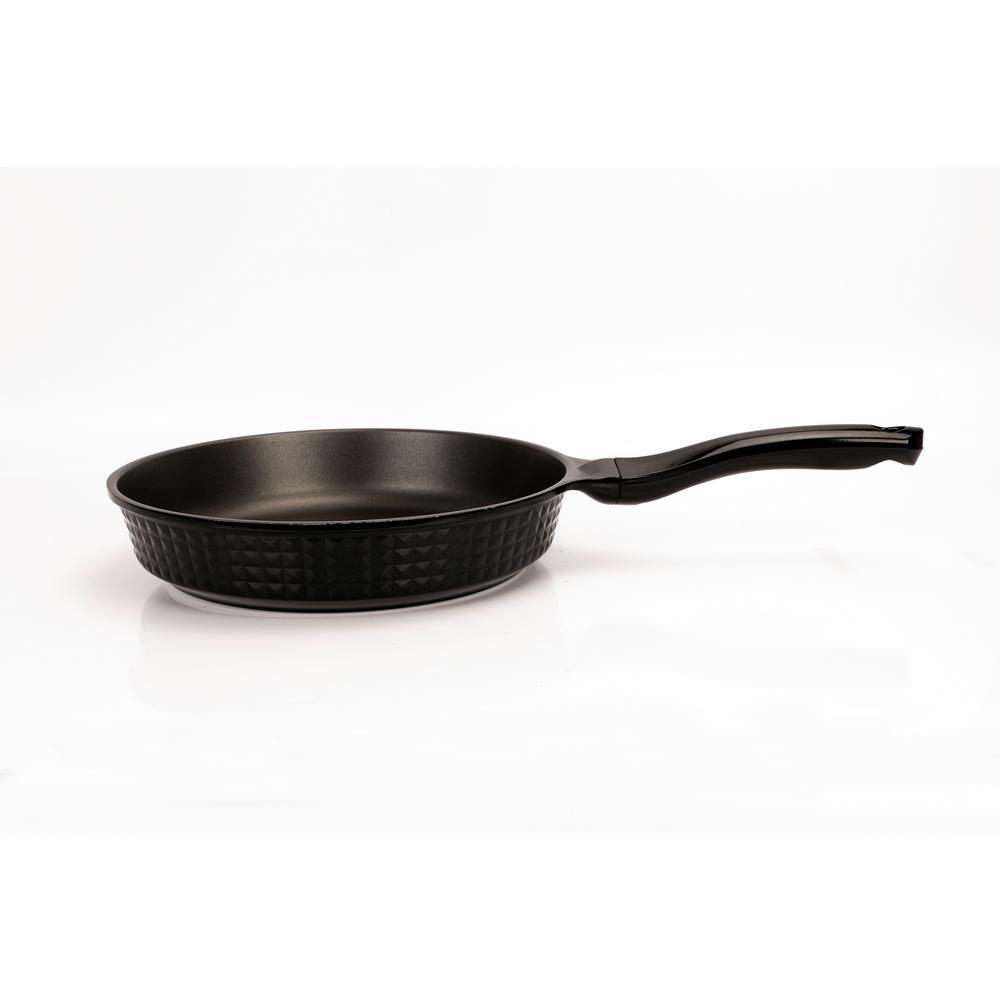 Diamond Design 11 in. Non-Stick Cast Aluminum Fry Pan in Black