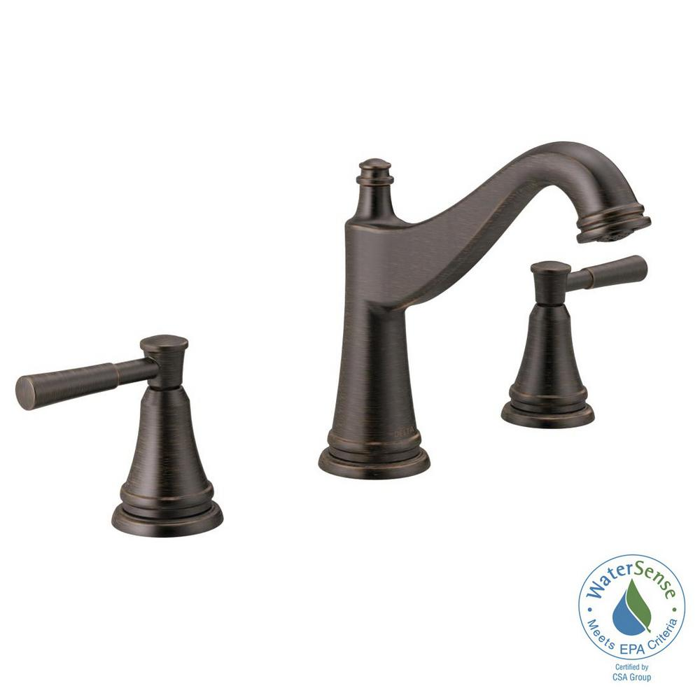 Widespread 2 Handle Bathroom Faucet In Venetian Bronze