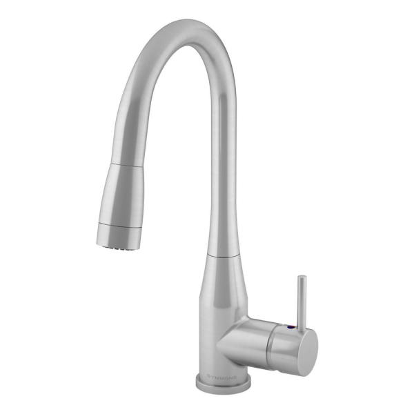 Sereno Single-Handle Pull-Down Sprayer Kitchen Faucet in Stainless Steel