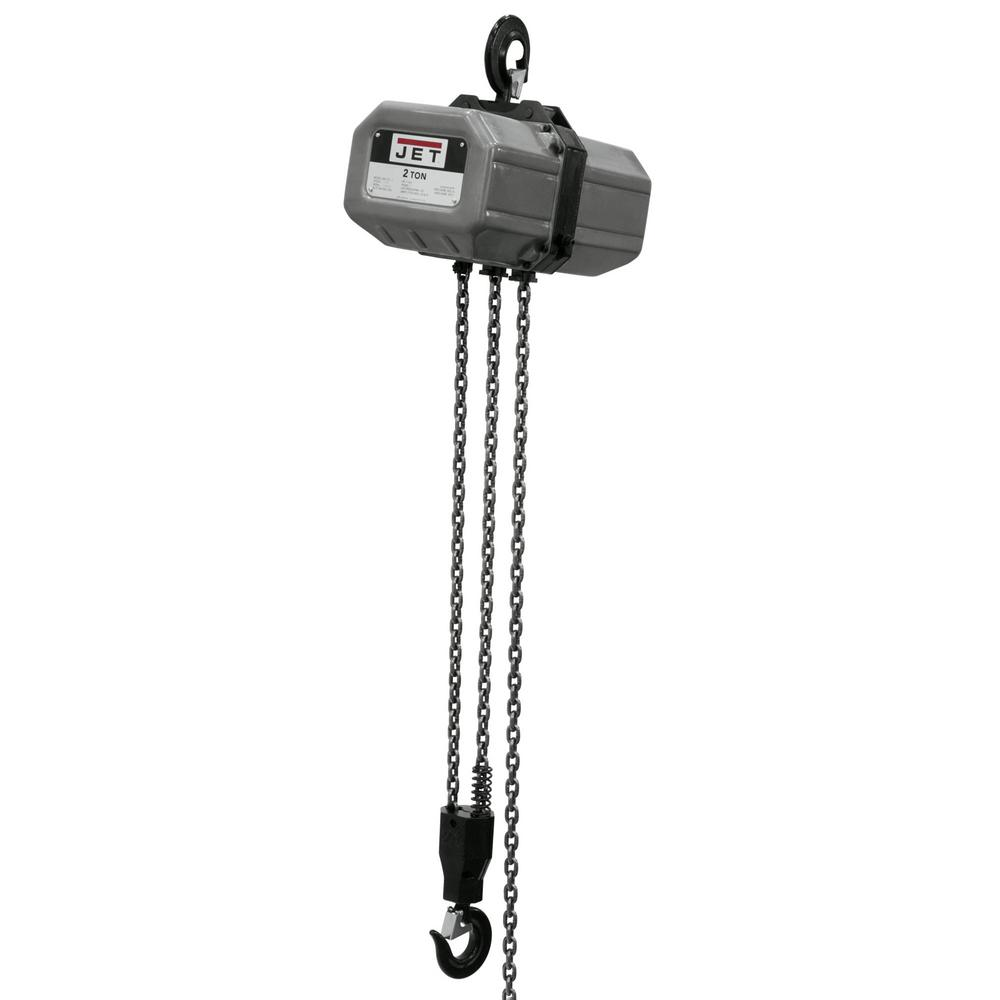 JET 2-Ton Capacity 10 ft. Lift Electric Chain Hoist 1-Phase 115/230-Volt 2SS-1C-10