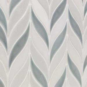 Delphi Sprig Arctic Blue 11.75 in. x 10.5 in. Marble and Ceramic Mosaic Tile (0.86 sq. ft./Sheet)