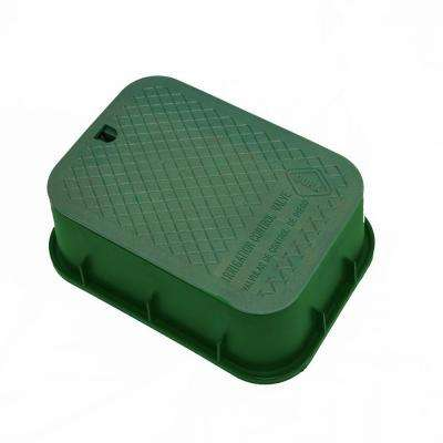 15 in. x 21 in. x 6 in. Deep Rectangular Valve Box in Green Body Green Lid
