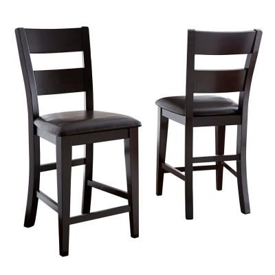 Victoria 24 in. Brown Counter Chair (Set of 2)