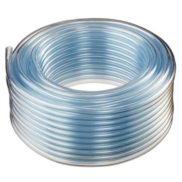 1/2 in. I.D. x 3/4 in. O.D. x 100 ft. Crystal Clear Flexible Non-Toxic, BPA Free Vinyl Tubing