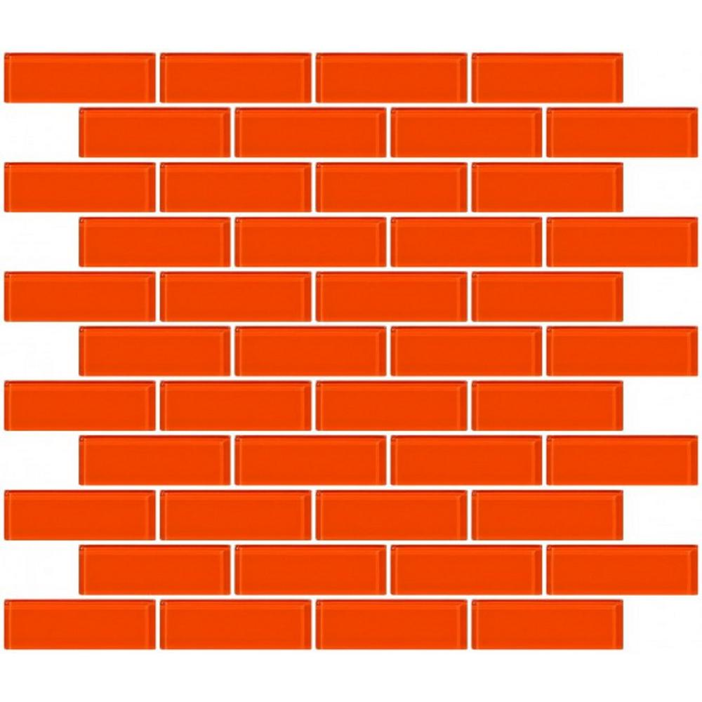 Ltl Home Products 12in X 12 In X 4 Mm Tile Esque Bright Orange