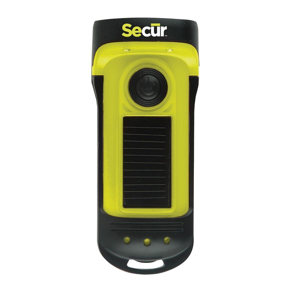 Secur Waterproof Solar/Dynamo LED Flashlight-SP-1002