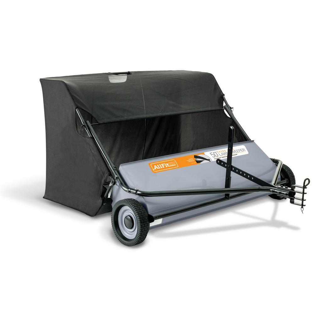 AllFitHD 50 in. 26 cu. ft. Lawn Sweeper