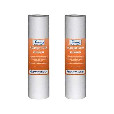 20 micron 10 in. x 2.5 in. Universal Sediment Filter Cartridges, Multi-layer, 15000 Gal. (2-Pack)