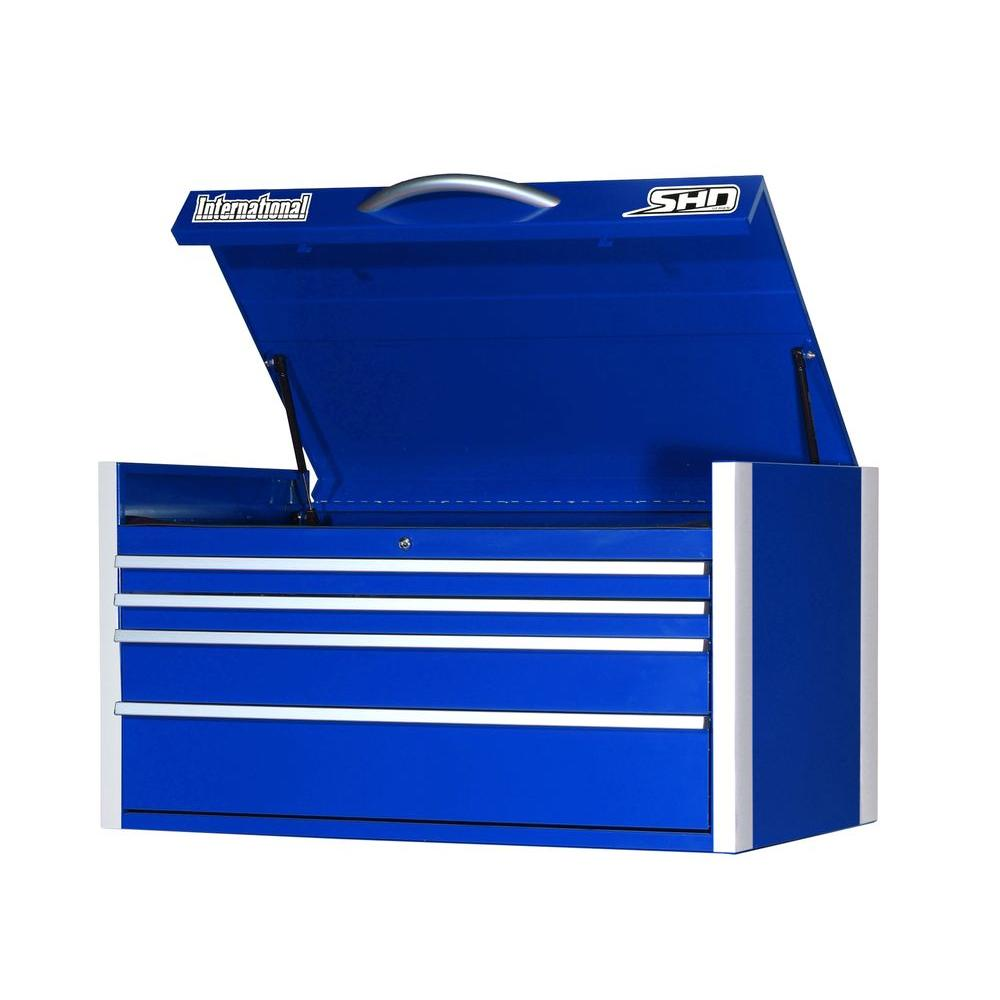 International SHD Series 42 in. 4-Drawer Top Chest, Blue