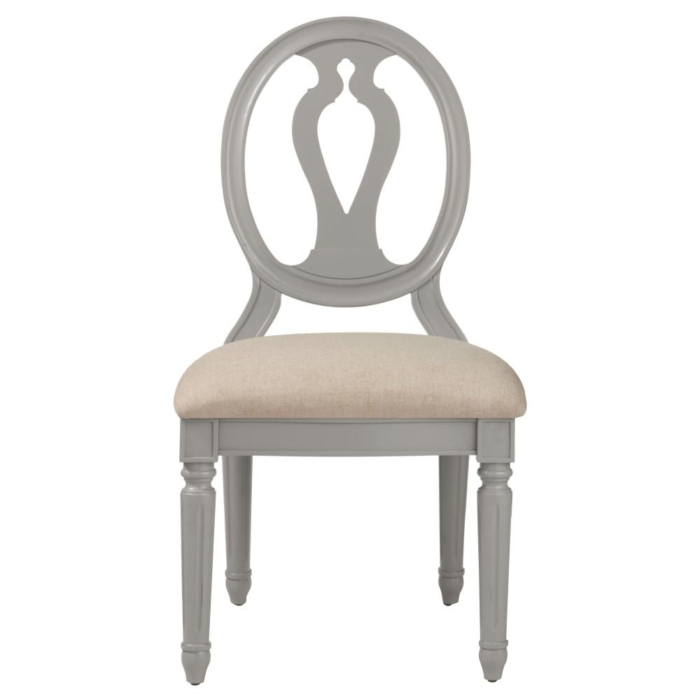 Ingrid Rubbed Grey Wood Side Chair