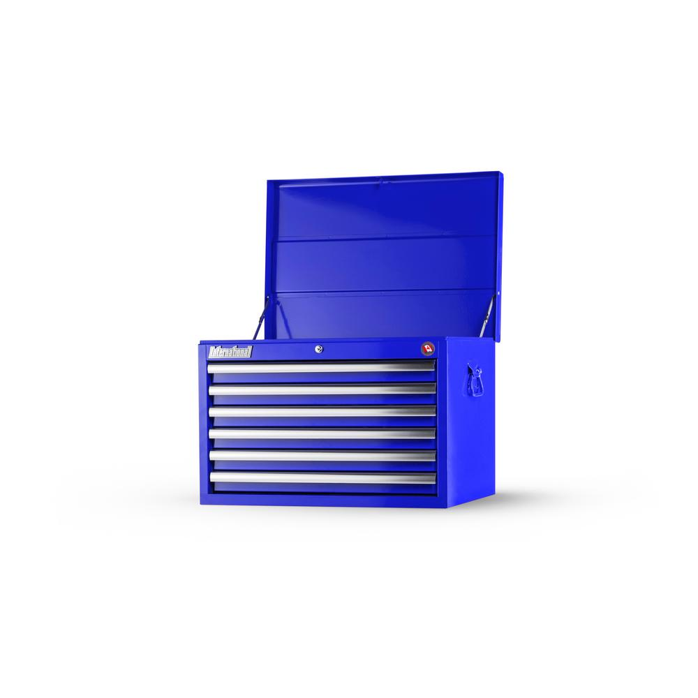 Tech Series 27 in. 6-Drawer Top Chest in Blue