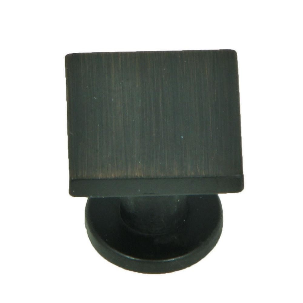 stone mill hardware soho 1 in oil rubbed bronze square cabinet knob rh homedepot com