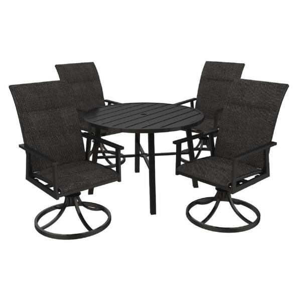 Round Metal Outdoor Dining Table