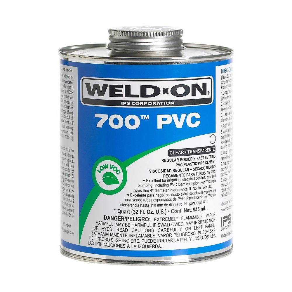 32 oz. PVC 700 Low VOC Cement in Clear
