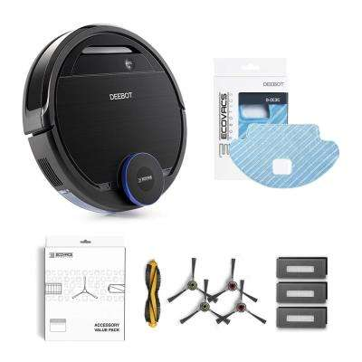 DEEBOT OZMO 930 Robotic Vacuum and Mop Cleaner with Service Kit and Replacement Micro-Fiber Mopping Pads