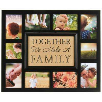 10-Opening 4 in. x 4 in., 4 in. x 6 in. Collage Matted Picture Frame
