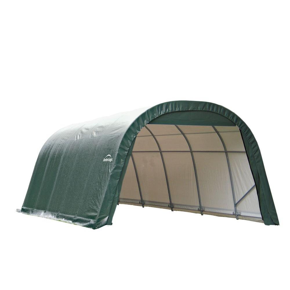 ShelterLogic 12 ft. x 20 ft. x 8 ft. Green Steel and Poly...