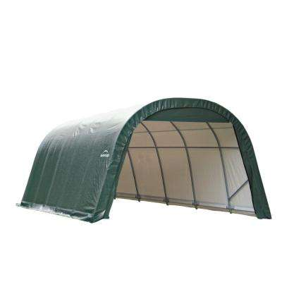 12 ft. x 20 ft. x 8 ft. Green Steel and Polyethylene Garage Without Floor