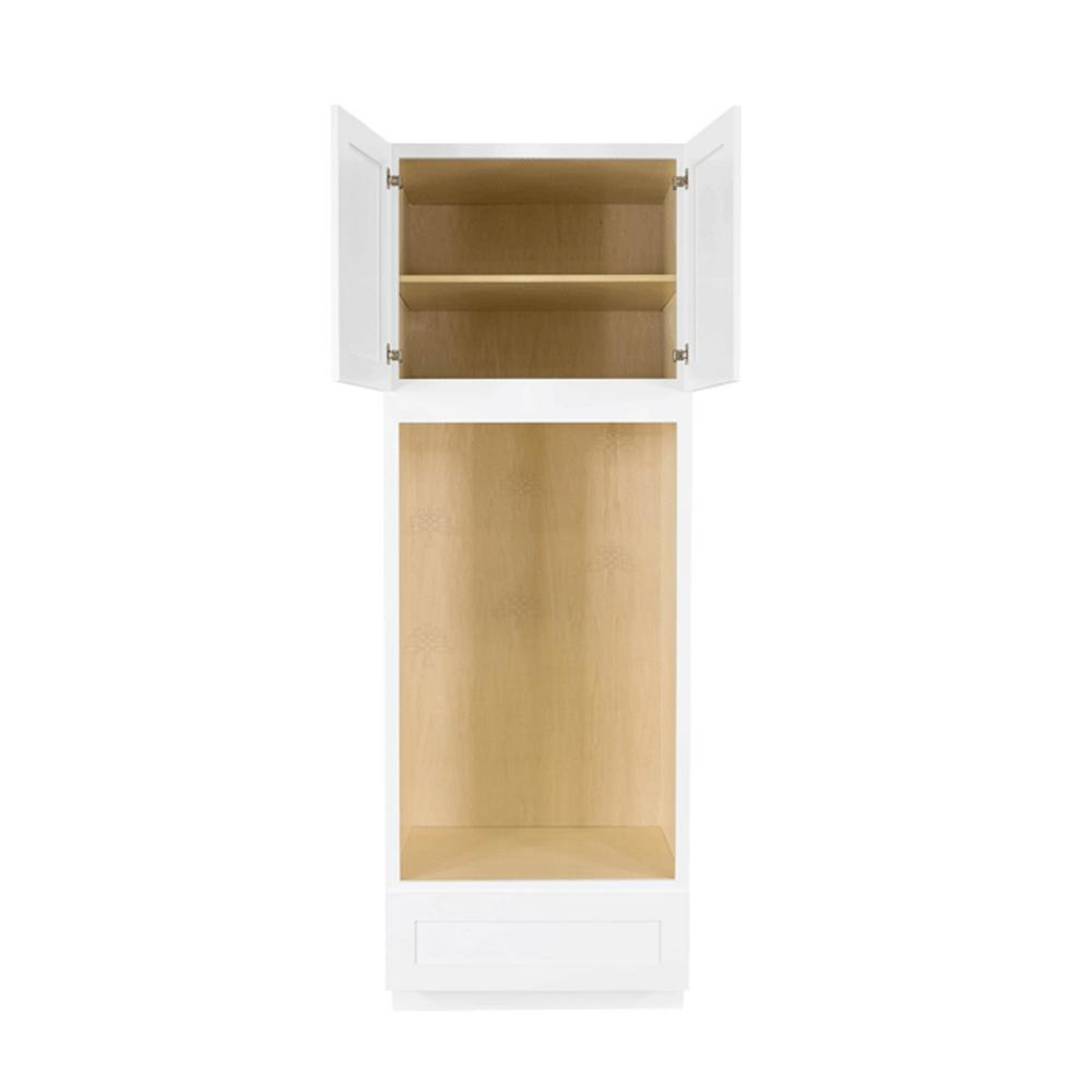 LIFEART CABINETRY Shaker Assembled 30x90x27 in. Double ...