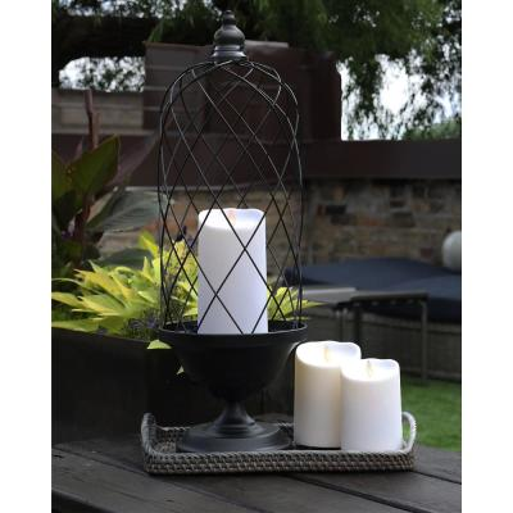 Outdoor Pillar 3.75 in. W x 5 in. H White No Scent