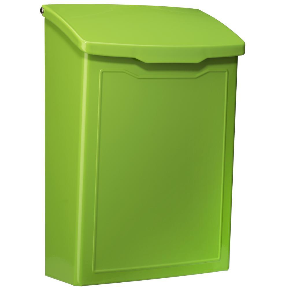 Marina Lime Green Wall Mount Mailbox