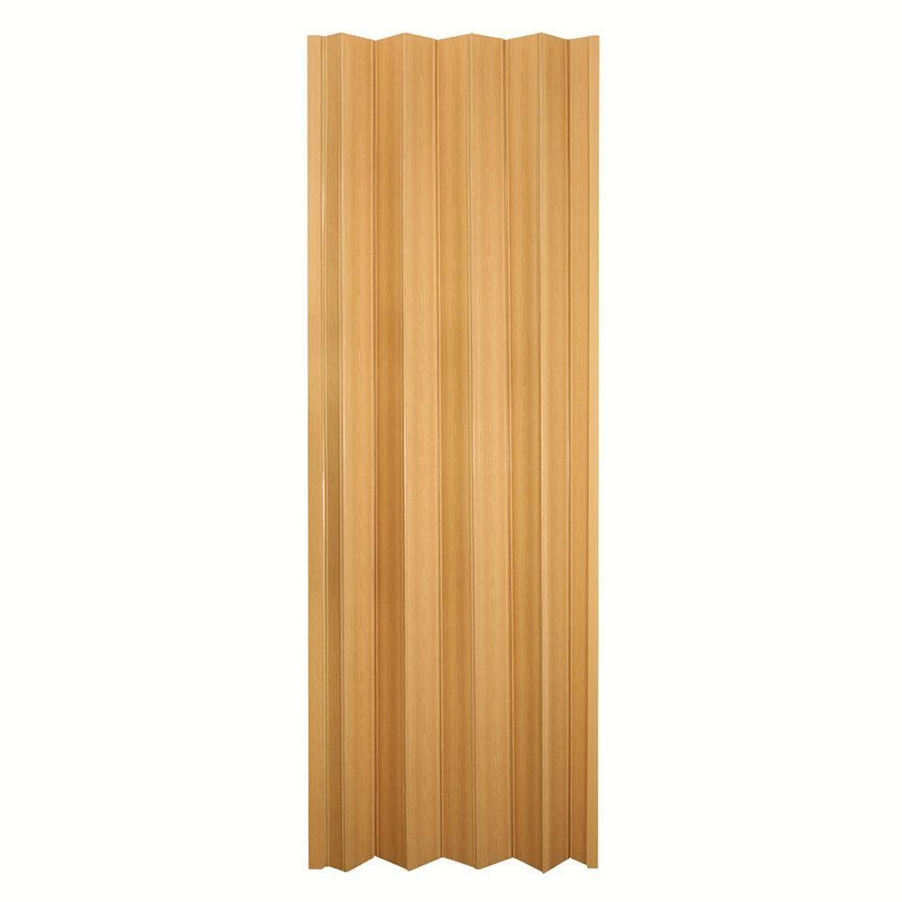 Spectrum 36 in x 80 in via vinyl oak accordion door for Accordion doors