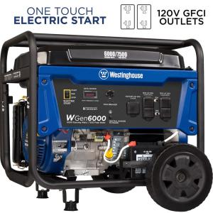 Westinghouse 6,000-Watt Gas Powered Electric Start Portable Generator with 420cc... by Westinghouse
