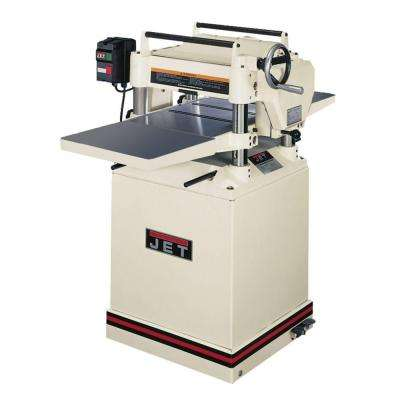 230-Volt JWP-15HH 3 HP 15 in. Industrial Woodworking Helical Head Thickness Planer with Closed Stand, 2-Speed Feed