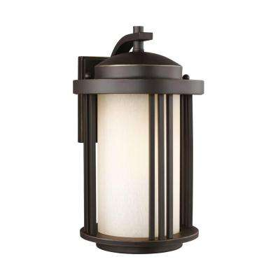 Crowell 1-Light Antique Bronze 14.875 in. Wall Lantern Sconce